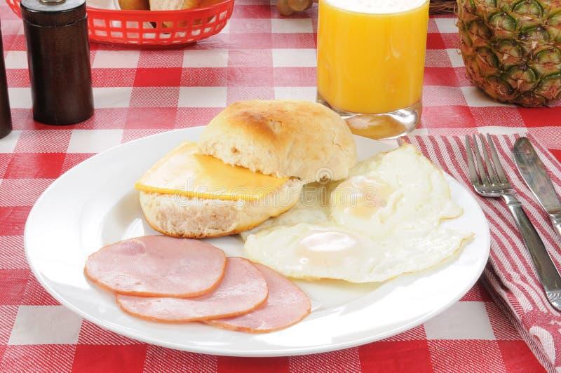 烟肉早餐加拿大 免版税库存照片