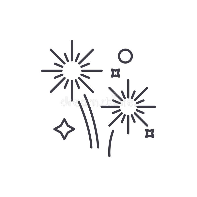 烟花假日排行象概念 烟花假日导航线性例证,标志,标志 皇族释放例证