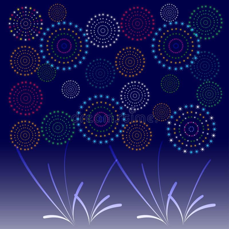 Download 烟花显示新年和所有庆祝例证 向量例证. 插画 包括有 当事人, 收集, 都市风景, 发光, 乐趣, 城市 - 59107217