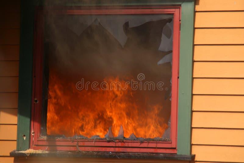 烟视窗 免版税库存图片