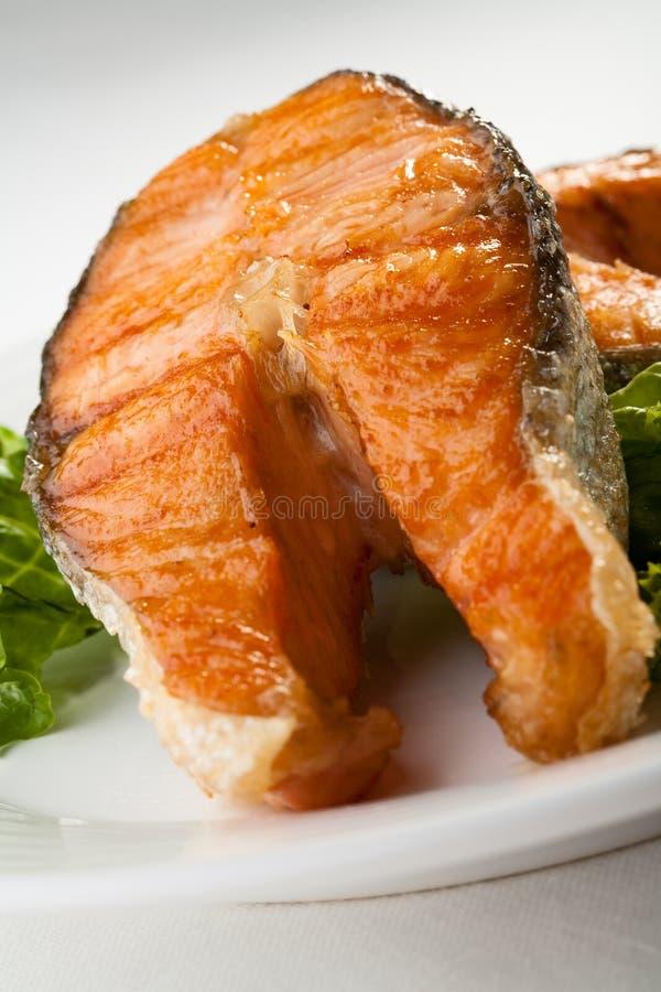 烤三文鱼 库存图片