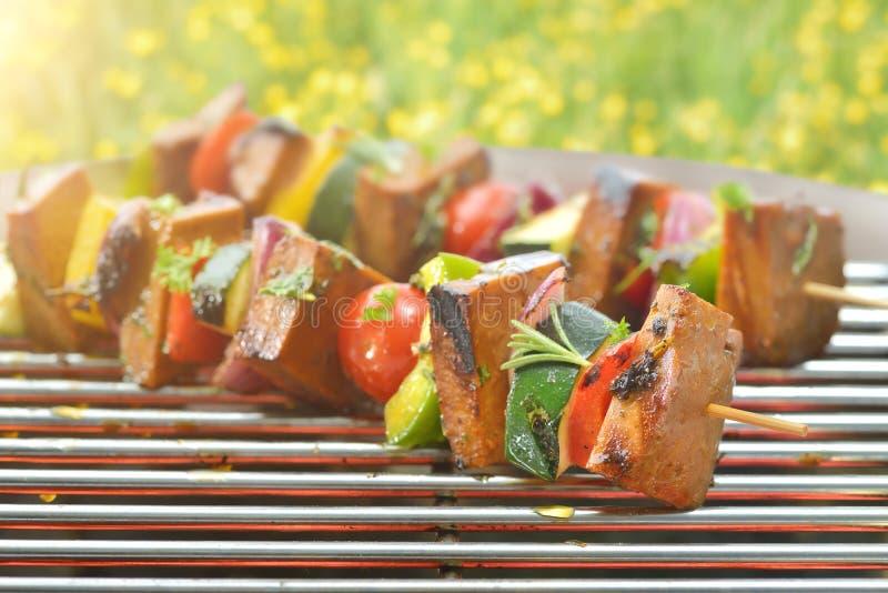烤与seitan的素食主义者 图库摄影