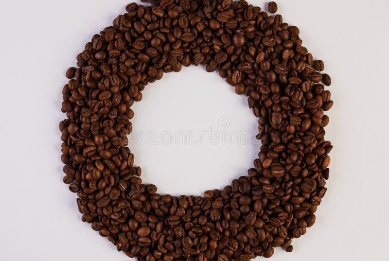 烤咖啡豆框架 库存图片