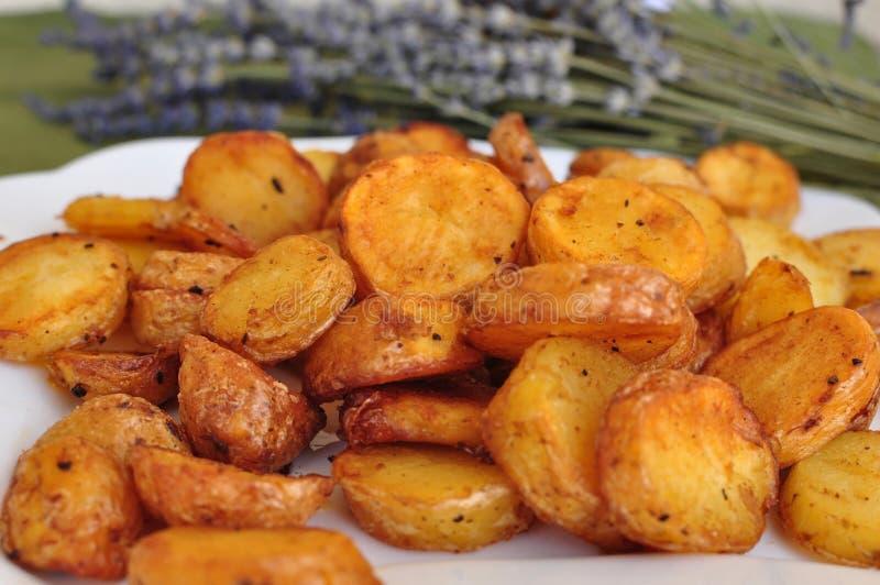 烤土豆 库存图片