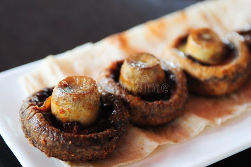 烤大蘑菇 图库摄影