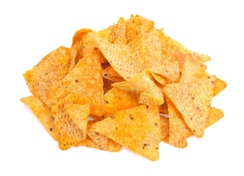 烤干酪辣味玉米片干酪玉米饼玉米片 免版税库存照片