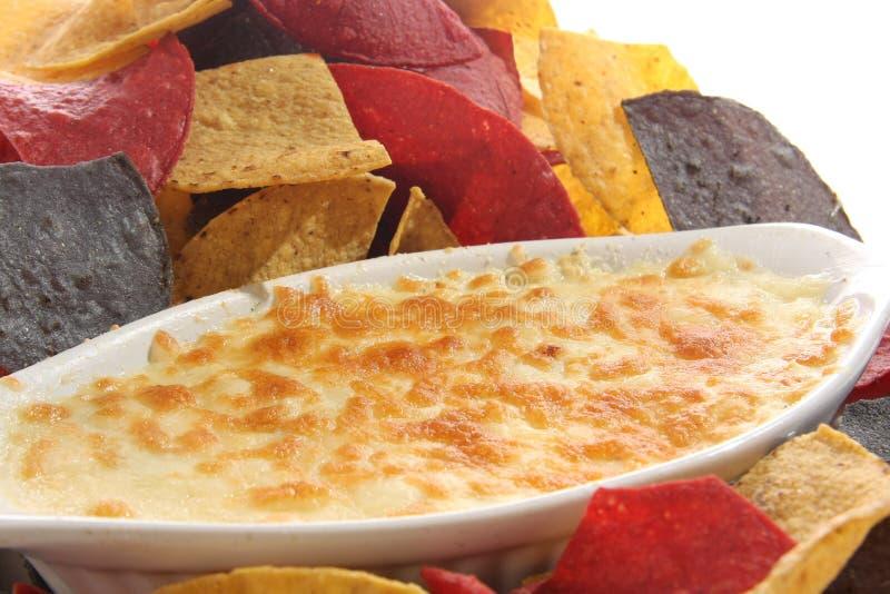 烤干酪辣味玉米片 库存图片