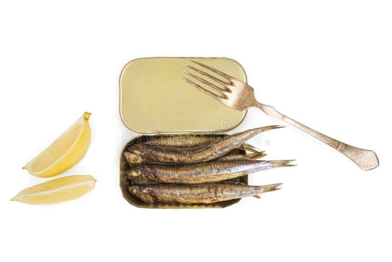 烤沙丁鱼 免版税库存图片
