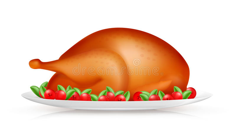 烤火鸡 向量例证
