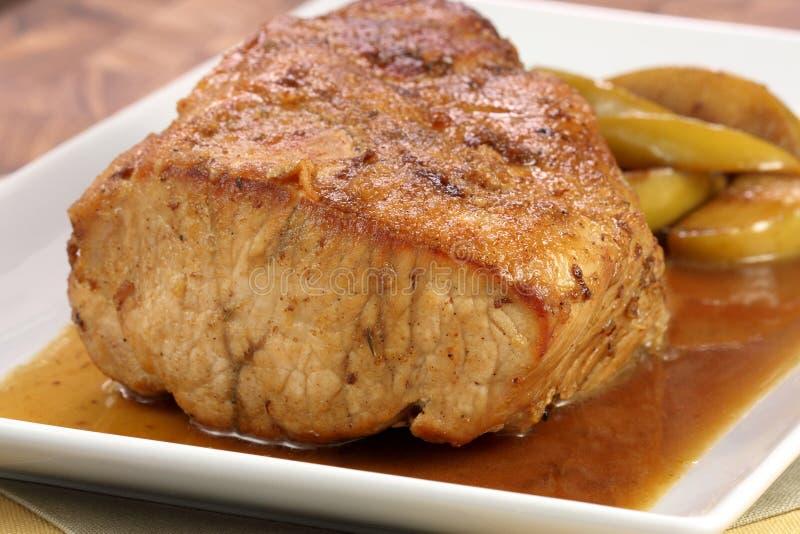 烤猪肉里脊肉 库存照片