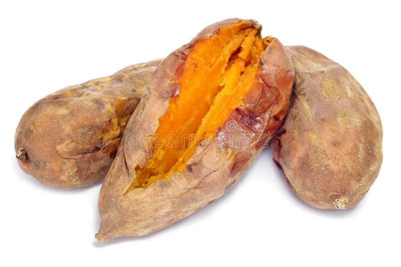 烤白薯 免版税库存照片