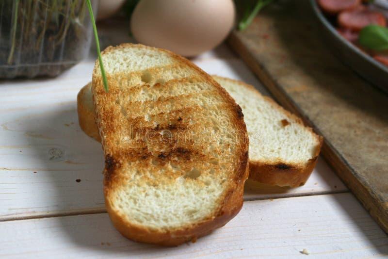 烤白面包 免版税库存照片