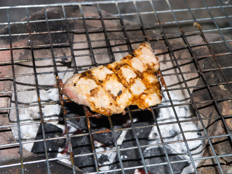 烤的猪肉 库存图片