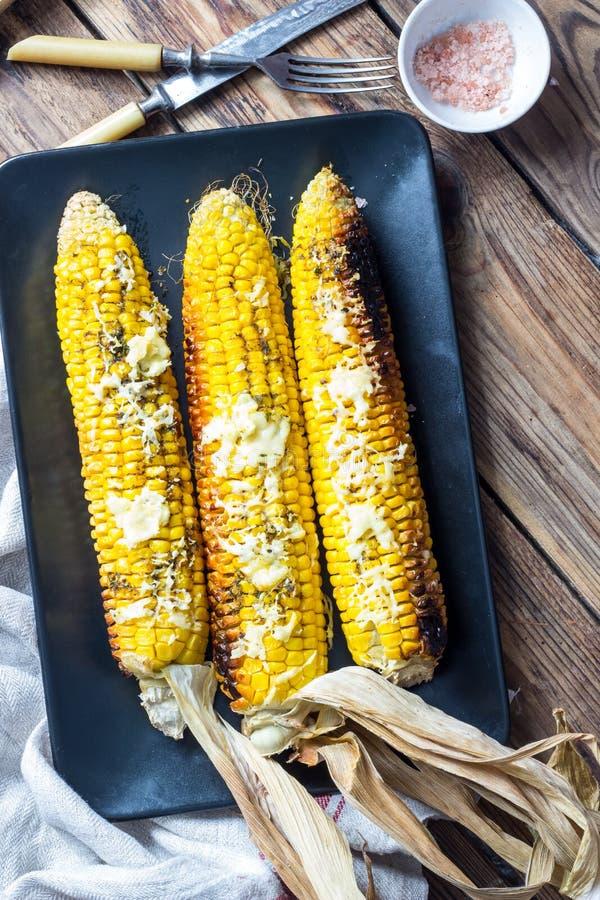 烤的玉米棒玉米 库存图片