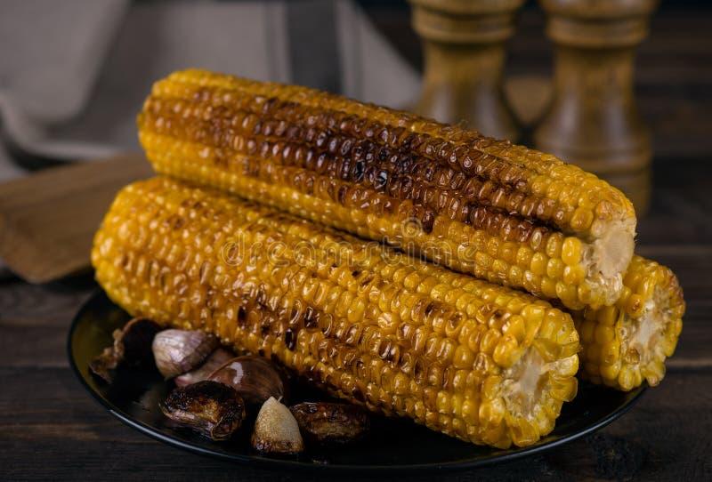 烤的玉米棒玉米 免版税库存照片