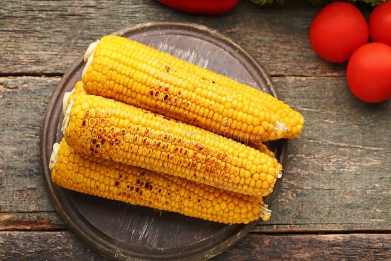 烤的玉米 库存图片