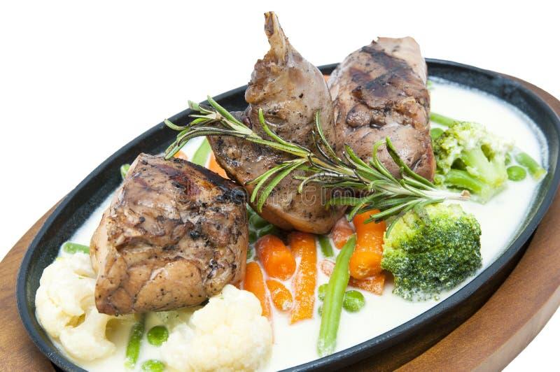 烤的肉兔子 免版税图库摄影