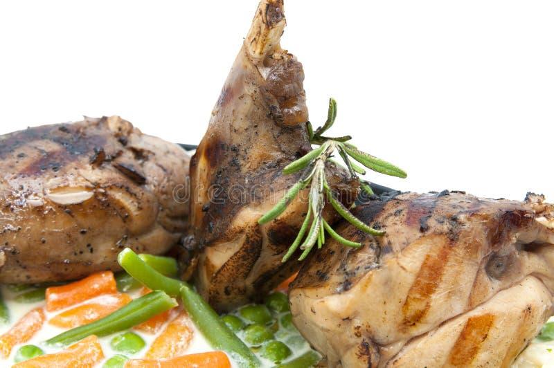 烤的肉兔子 免版税库存图片