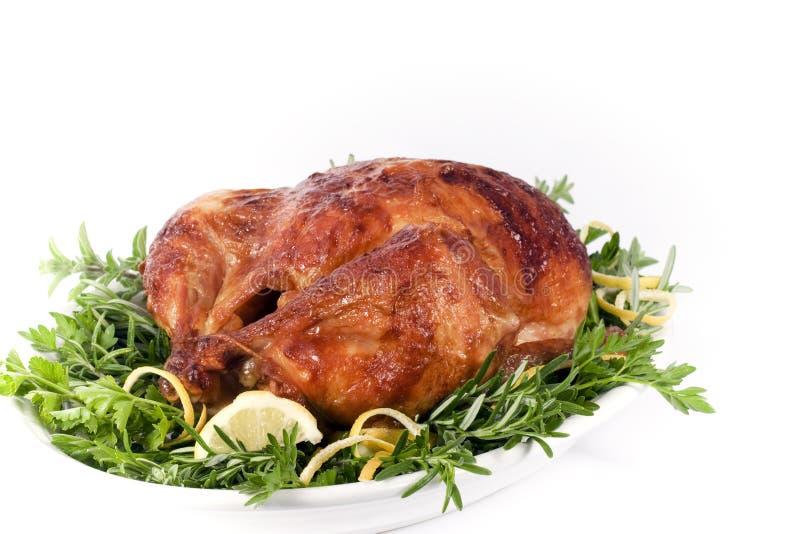 烤的鸡 免版税图库摄影