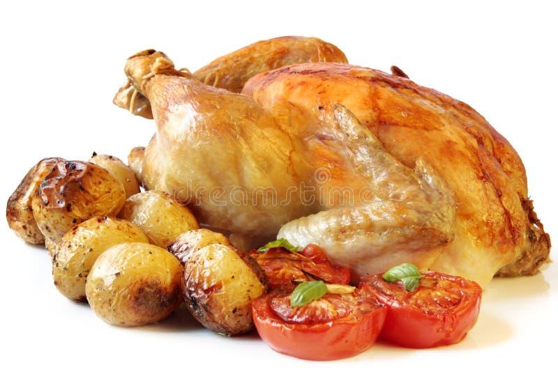 烤的鸡 库存图片