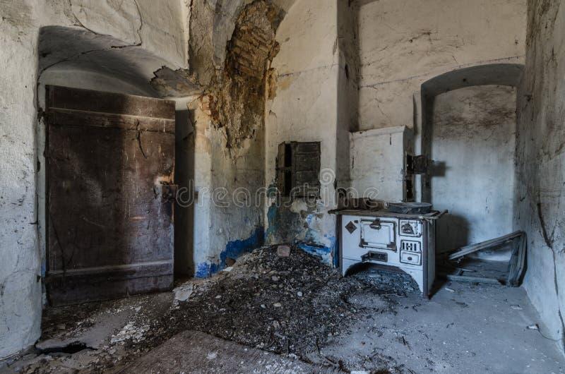 烤箱和门在磨房 库存照片