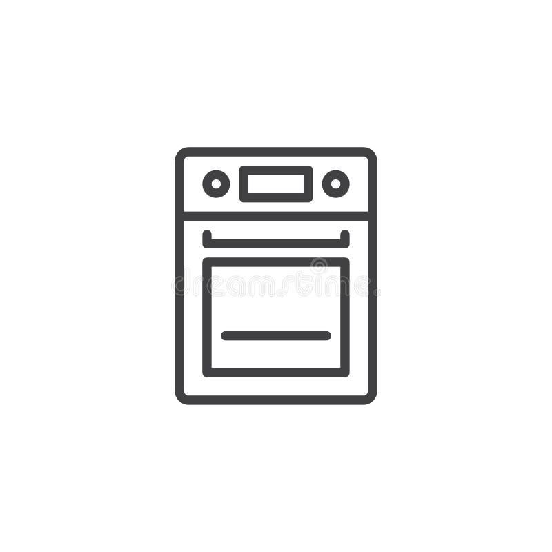 烤箱线象 皇族释放例证