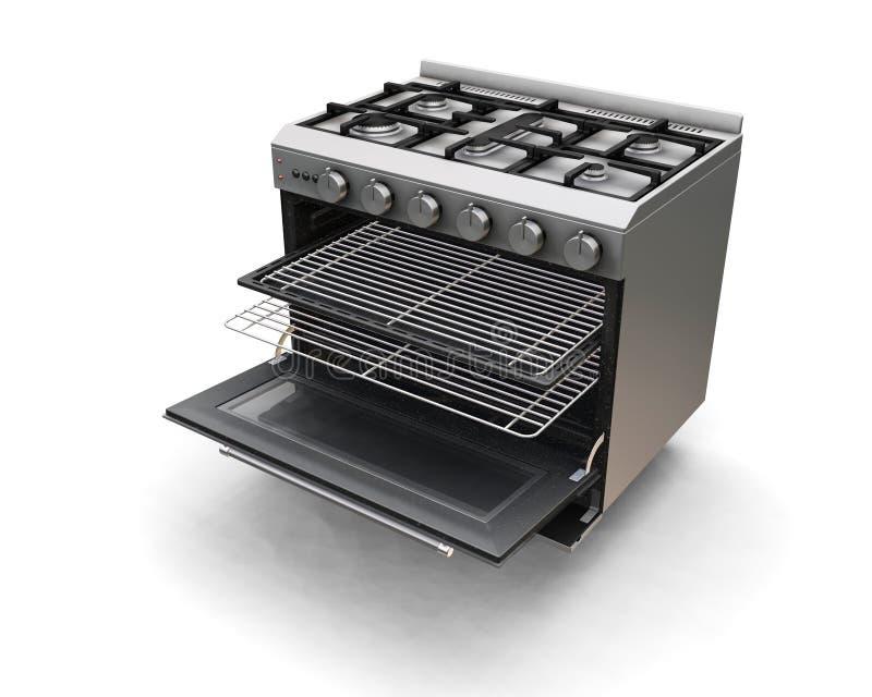 烤箱 向量例证