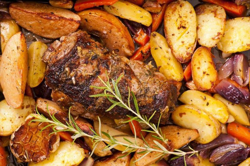 烤羊肉 库存照片