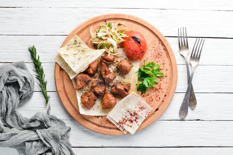 烤肉串和烤菜 r 库存照片