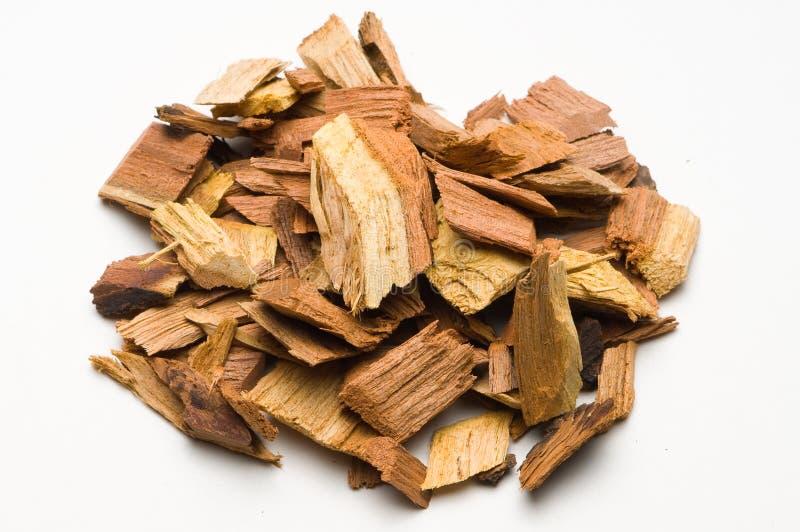 烤肉切削豆科灌木木头 图库摄影