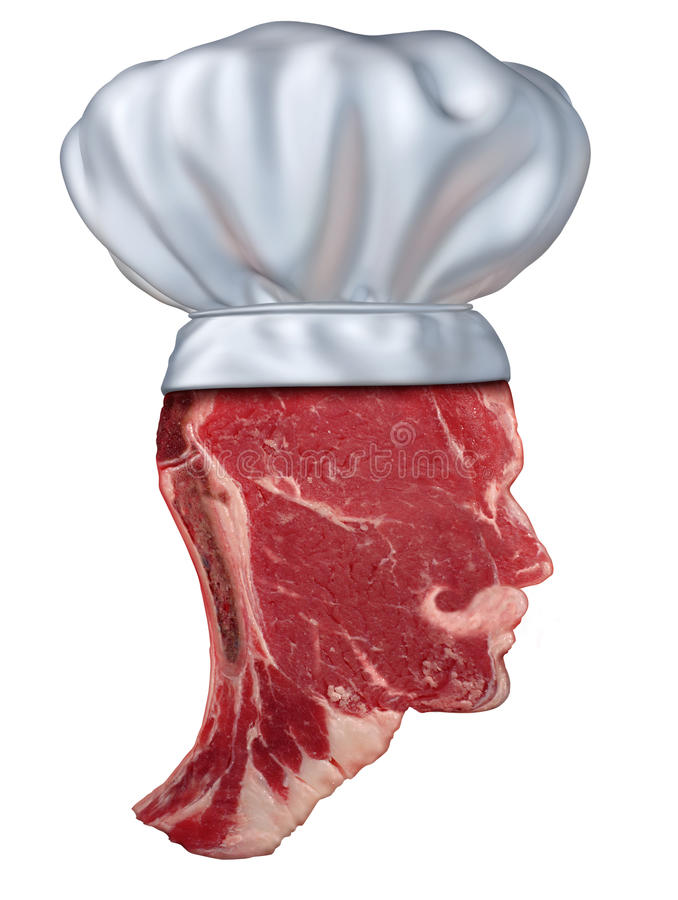 烤肉厨师 库存例证