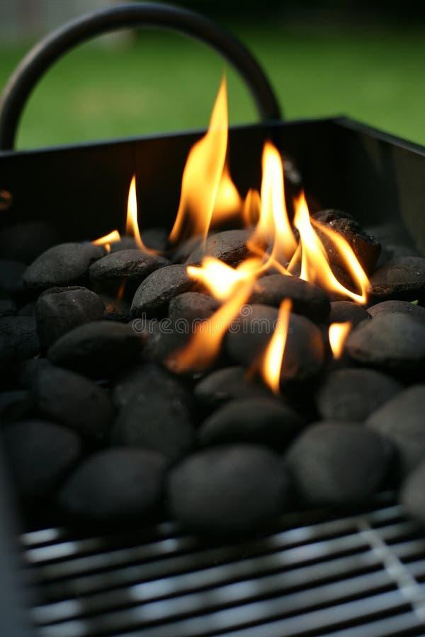 烤肉木炭 免版税库存照片