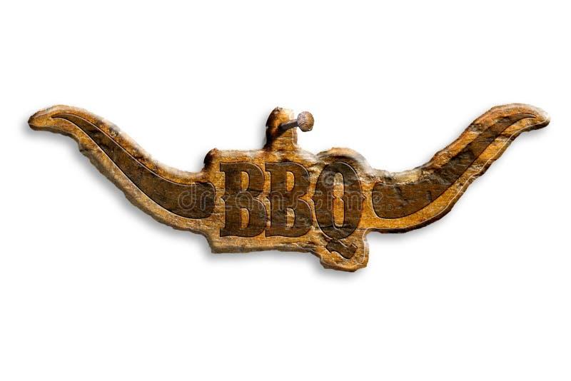 烤肉标志 皇族释放例证