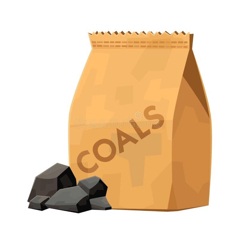 烤肉格栅动画片传染媒介例证的木炭袋子 向量例证