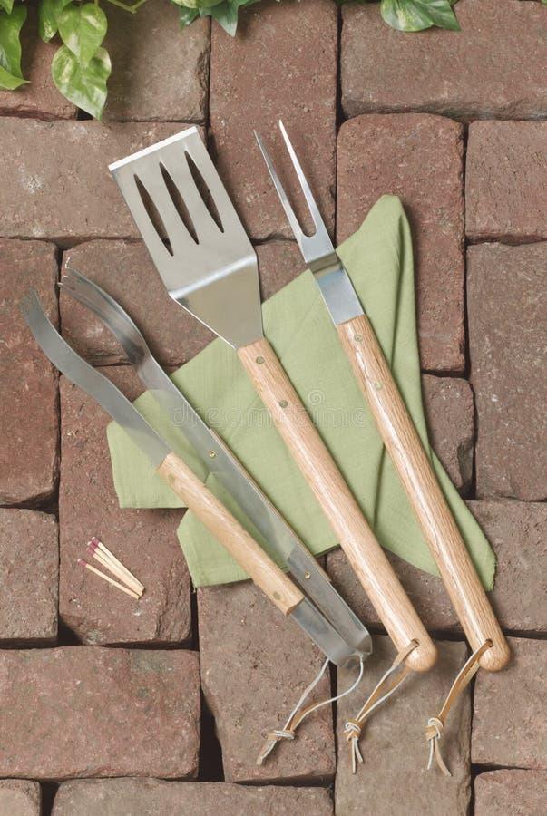 烤肉格栅工具 库存图片