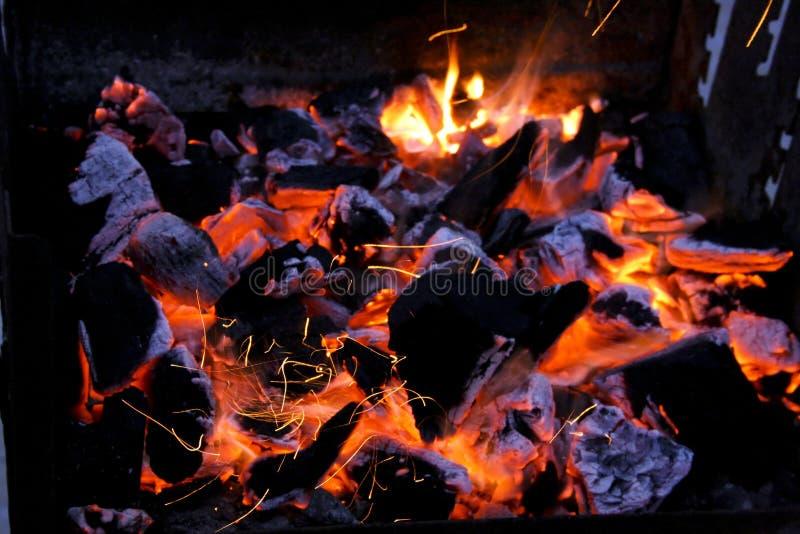 烤肉火 库存照片