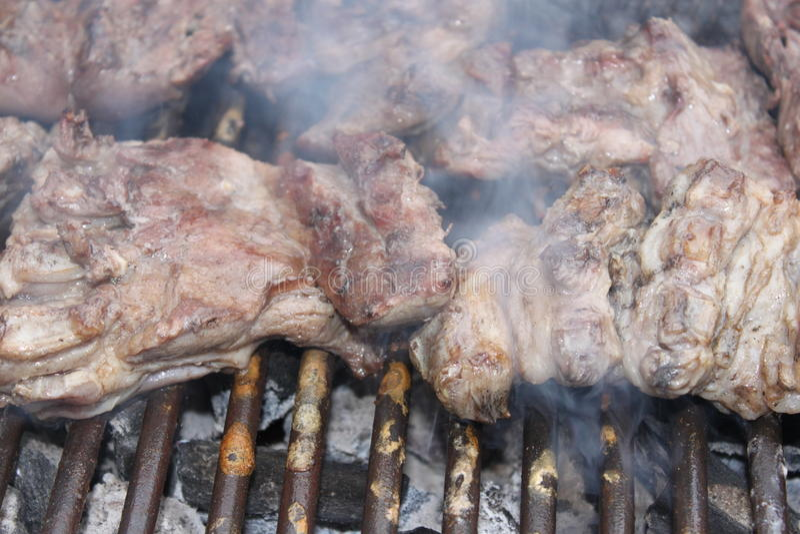 烤肉牛排 库存照片