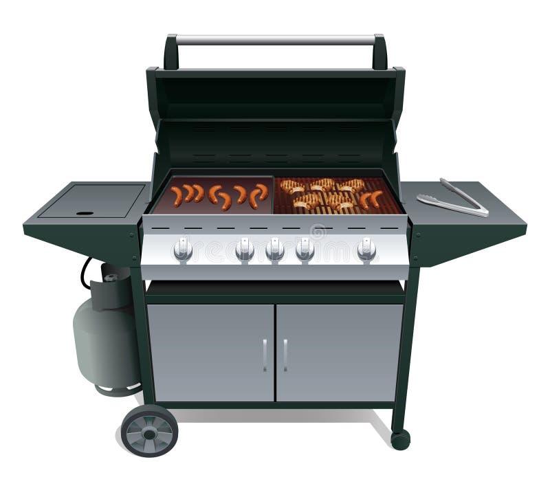 烤肉肉 皇族释放例证