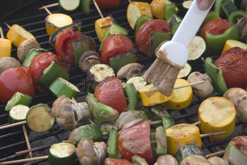 烤肉蔬菜 免版税库存照片
