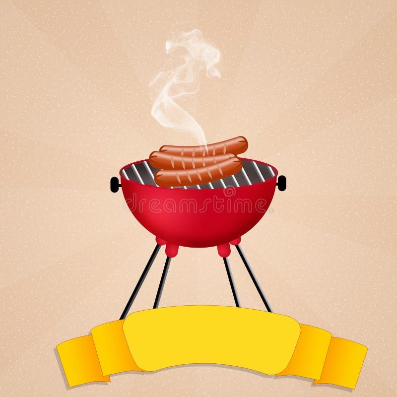 烤肉 向量例证