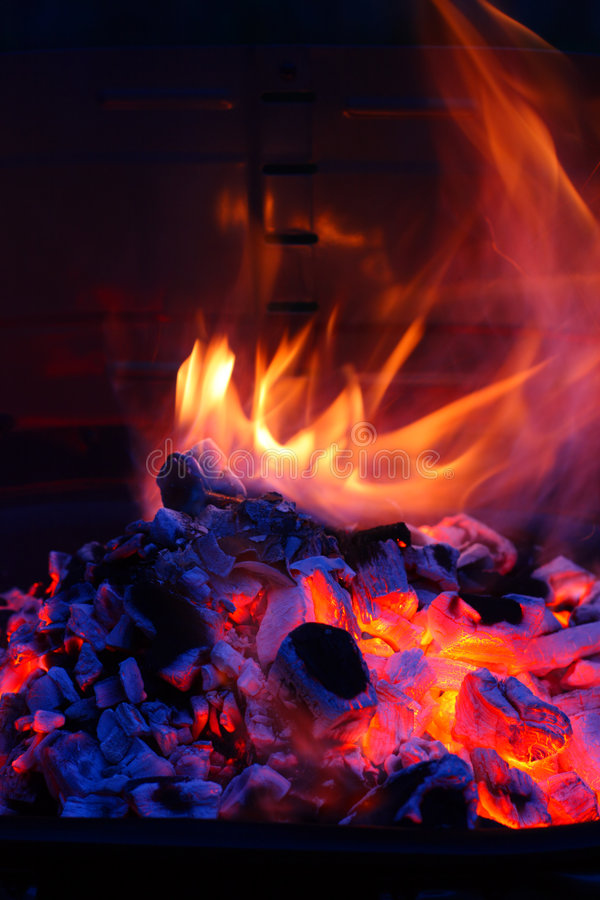烤肉bbq火焰格栅 免版税库存图片