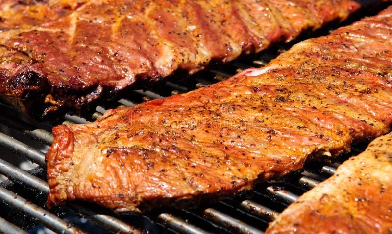 烤肉bbq肋骨 库存照片