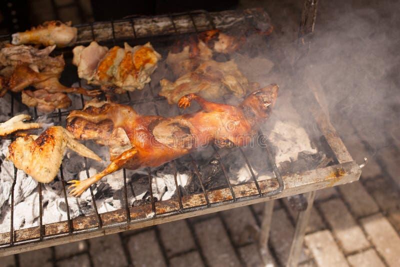 烤肉Cuy (试验品) 库存图片