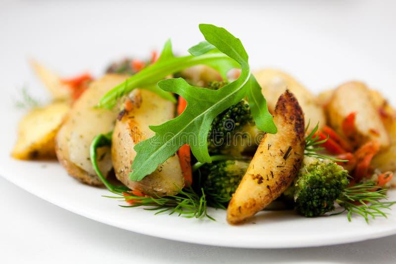 烤蔬菜用草本 库存图片