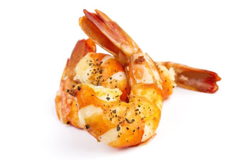 烤虾 免版税库存图片