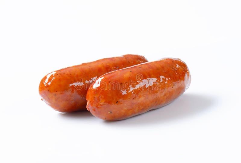 烤香肠二 免版税图库摄影