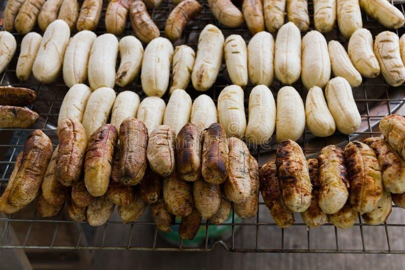 烤香蕉 免版税图库摄影