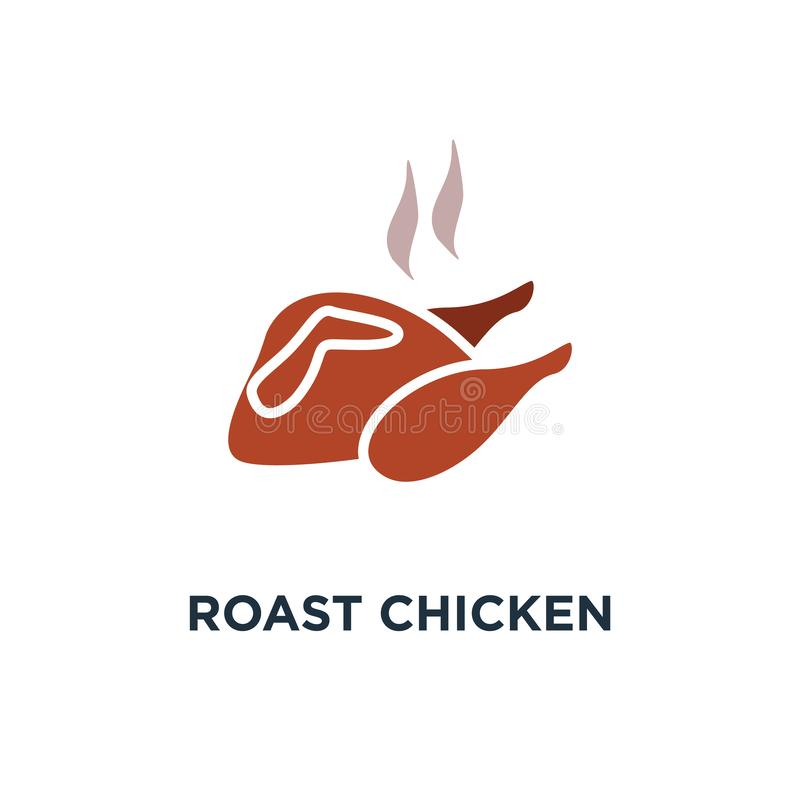烤鸡象 禽畜、煮熟的鸡或者sy火鸡的概念 皇族释放例证