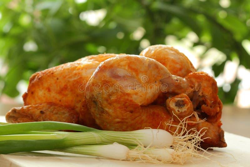 烤鸡 免版税库存图片