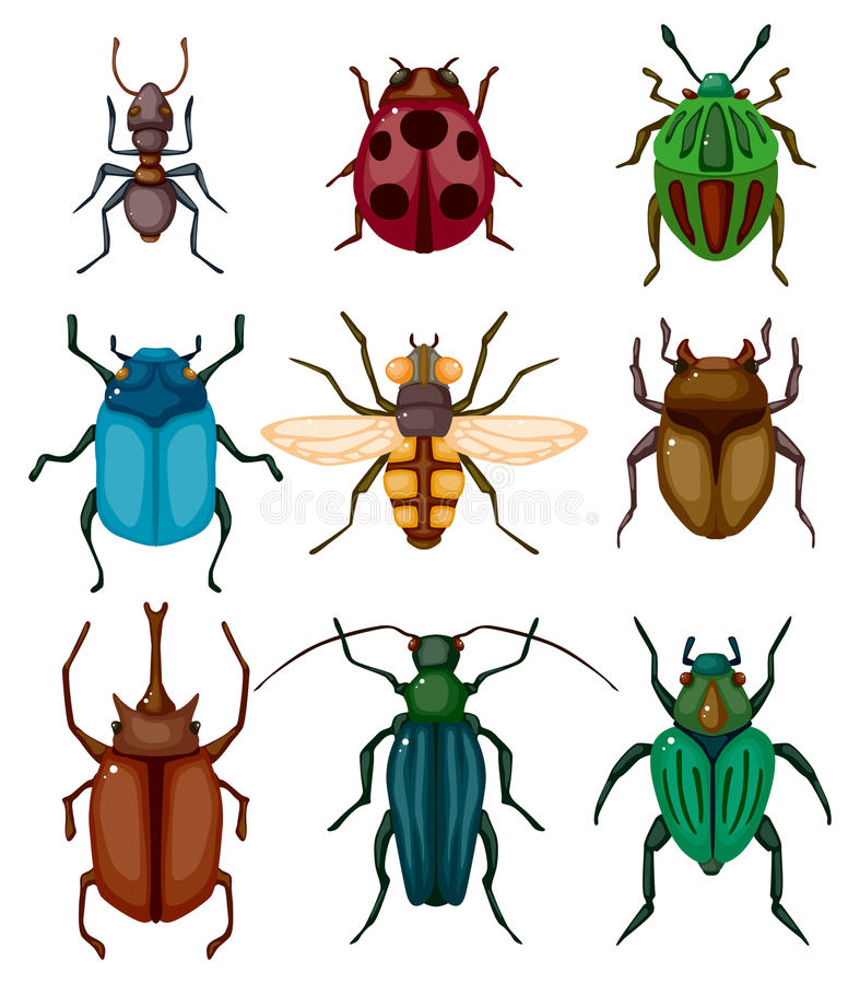 烦扰动画片图标昆虫 向量例证